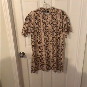Snake print T shirt dress